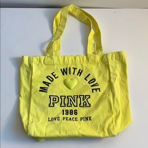 Faded Yellow PINK Tote